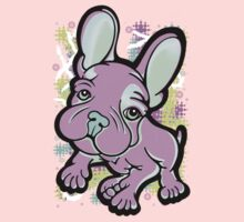 Pastel Splash French Bull Dog  One Piece - Short Sleeve