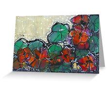 Nasturtium Tangle - Kerry Beazley Greeting Card