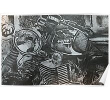 Motorcycle sketch Poster