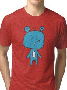 Cartoon blue mouse Tri-blend T-Shirt