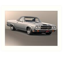 1971 Chevrolet El Camino SS 'Cowl Induction' Art Print