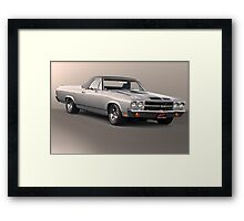 1971 Chevrolet El Camino SS 'Cowl Induction' Framed Print