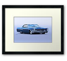 1965 Cadillac Custom Coupe DeVille Framed Print
