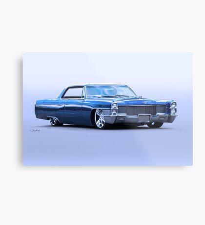 1965 Cadillac Custom Coupe DeVille Metal Print
