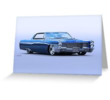 1965 Cadillac Custom Coupe DeVille Greeting Card