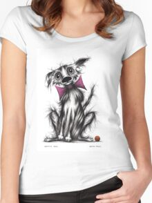Spotty dog Women's Fitted Scoop T-Shirt