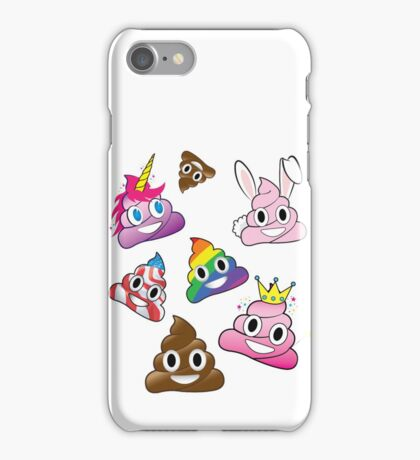 Silly Whacky Fun Poop Emoji Land Collection iPhone Case/Skin