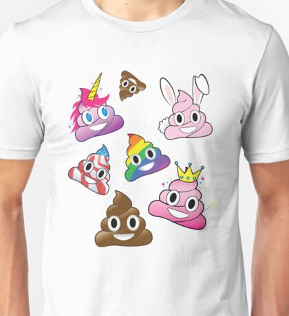 Silly Whacky Fun Poop Emoji Land Collection Unisex T-Shirt