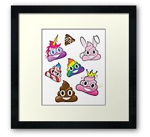 Silly Whacky Fun Poop Emoji Land Collection Framed Print