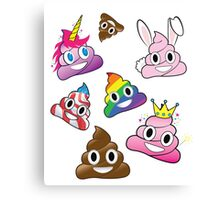 Silly Whacky Fun Poop Emoji Land Collection Canvas Print
