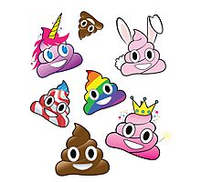 Silly Whacky Fun Poop Emoji Land Collection Photographic Print