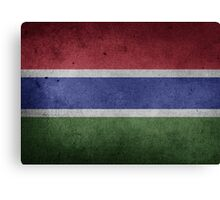 Gambia Flag Grunge Canvas Print