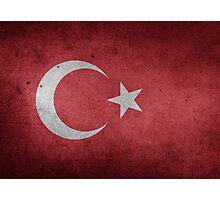 Turkey Flag Grunge Photographic Print