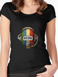 Retro self music Women's Fitted Scoop T-Shirt