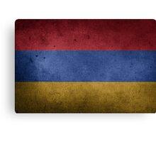 Armenia Flag Grunge Canvas Print