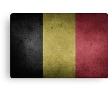 Belgium Flag Grunge Canvas Print
