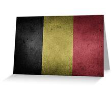 Belgium Flag Grunge Greeting Card