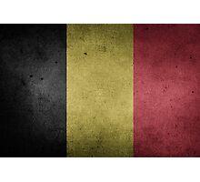 Belgium Flag Grunge Photographic Print