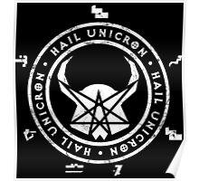All Hail Unicron - Unigram (White) Poster