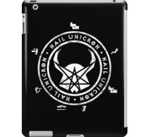All Hail Unicron - Unigram (White) iPad Case/Skin