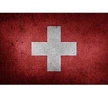 Switzerland Flag Grunge Photographic Print