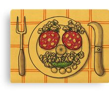 Countryside appetizer placemat Canvas Print