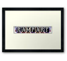 Rampart (SNES Title Screen) Framed Print
