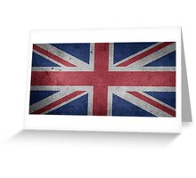 United Kingdom Flag Grunge Greeting Card