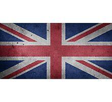 United Kingdom Flag Grunge Photographic Print