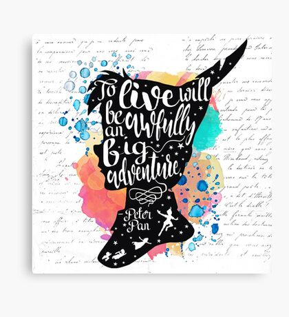 Peter Pan - To Live Canvas Print
