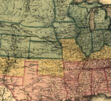 Bacon's Civil War Military Map of the United States (1862) Sticker