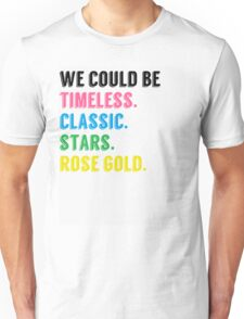 Rose Gold Unisex T-Shirt