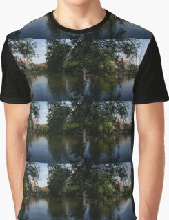 A Glimpse Through the Trees - Bruges, Belgium Graphic T-Shirt