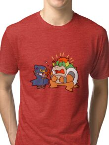 Geno and Bowser Arguing Tri-blend T-Shirt