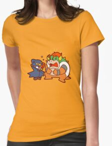 Geno and Bowser Arguing Womens Fitted T-Shirt