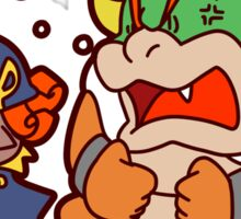 Geno and Bowser Arguing Sticker