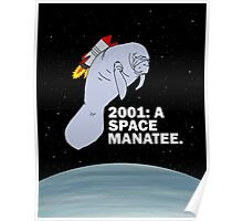 2001: A SPACE MANATEE Poster