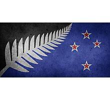 New Zealand Flag Grunge Photographic Print