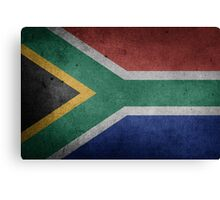 South Africa Flag Grunge Canvas Print