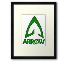Green Arrow Logo Framed Print