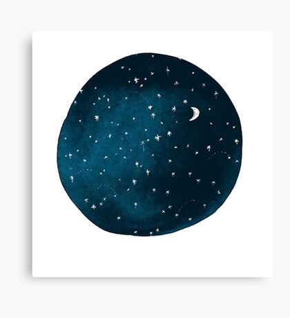 the stars, the moon, they have all been blown out Canvas Print