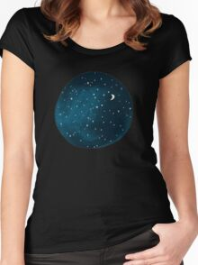 the stars, the moon, they have all been blown out Women's Fitted Scoop T-Shirt