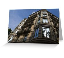 Barcelona's Marvelous Architecture - Passeig de Gracia Facade Greeting Card