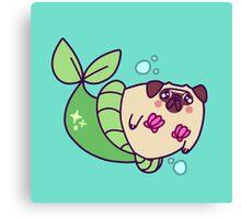 Pug Mermaid Canvas Print