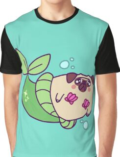 Pug Mermaid Graphic T-Shirt