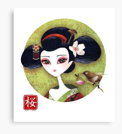 Sakura Girl Reloaded Canvas Print
