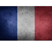 France Flag Grunge Photographic Print