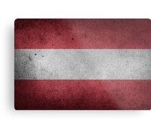 Austria Flag Grunge Metal Print