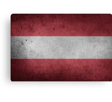 Austria Flag Grunge Canvas Print
