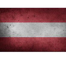 Austria Flag Grunge Photographic Print